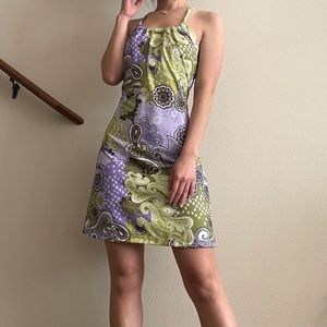 Prana Green Floral Quinn Mini Dress